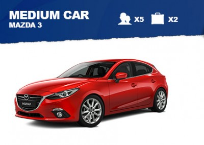Medium Car – from $40/day