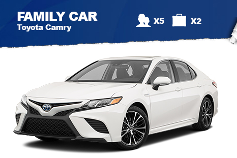 Family Car – from $50/day